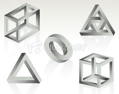 Impossible Objects Royalty Free Stock Vector Art Illustration