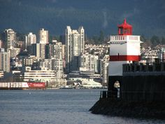 Brockton Point Lighthouse as it stands today in Vancouver. The lighthouse was constructed in 1914.