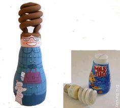 Con bombilla || Recycled light bulb