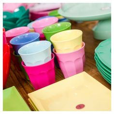 All our hired party melamine is sourced from @ricedk because the very best quality plates, cups and serveware cannot help but make your party pop. .…