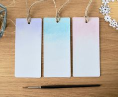 Bullet Journal Layout Daily, Watercolor Bookmarks, Book Markers, Pastel Watercolor, Art Uk, Daisy Chain, Cellophane Bags, Handmade Items, Handmade Gifts