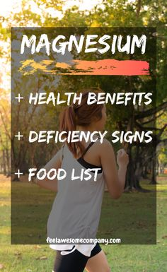 Magnesium health benefits and more! Magnesium is an essential mineral for good health and wellness. In this article you'll learn about the health benefits of magnesium, as well as some magnesium rich foods and magnesium deficiency symptoms. Discover the benefits of magnesium here! #magnesium #magnesiumbenefits  #magnesiumdeficiency #healthyeating #fitness #weightlosstips