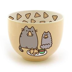 Birthday snack Chips - Enesco Pusheen by Our Name is Mud Stoneware Chips Snack Bowl, Yellow, 4 . Gato Pusheen, Pusheen Love, Pusheen Stuff, Pusheen Gifts, Kawaii Room, Snack Bowls, Cute Kitchen, Cute Mugs, Cat Lovers