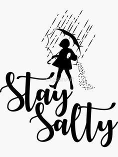 'Stay Salty - Salt' Sticker by ElysianArt Free Font Design, Design Logo, Silhouette Cameo Projects, Silhouette Design, Silhouette Cameo Shirt, Silhouette Images, Cricut Craft Room, Cricut Vinyl Projects, Cricut Svg Files Free