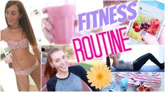 FITNESS ROUTINE 2015: DIY MILCHSHAKE, WHATS IN MY BAG, APPS, OUTFITS, ÜB...