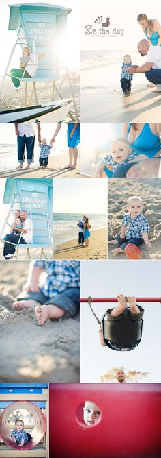 6 month old baby boy beach photo session