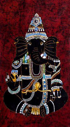 A gorgeous black bejewelled Ganesha #Ganesh