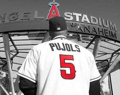 Albert Pujols first staring at his future with new team old pic