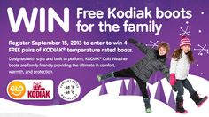 You should enter Kodiak Winter Boots. There are great prizes and I think one of us could win!