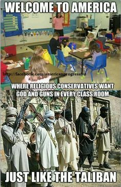 Welcome to America... Teabagger/Republican Taliban