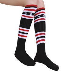 3b0ecfdb7f8 Child Boy Girls Football Sock Striped Colored Rainbow Knee Socks Cotton  School Long Socks 1-
