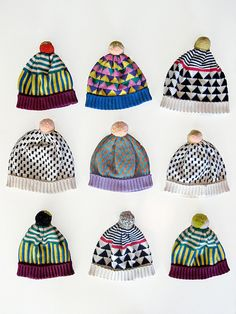 loving the colors + patterns @ play here in the ALL knitwear hats - pic 2