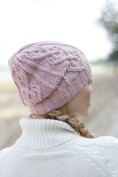 Hand knitted autumn winter hat  pink hat urban wool by SockClub