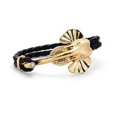 Elephant Trunk Hook Leather Bracelet