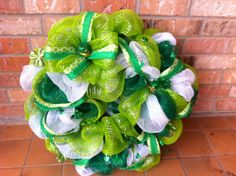 Luck O'the Irish wreath by ChicAffair on Etsy, $90.00
