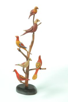 Bird Tree by Walter and June Gottshall Pennsylvania Late 20th Century Estimate $300 - 500  Garths Auction