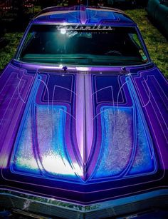 Bringing you the best in classic muscle cars and other exceptional automobiles Custom Car Paint Jobs, Custom Motorcycle Paint Jobs, Custom Cars, 64 Impala Lowrider, Lowrider Art, Pinstripe Art, Custom Chevy Trucks, Pinstriping Designs, Car Painting