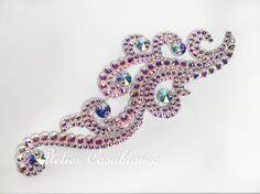S-AAG10 ガロールクチュール制作のオーロラの石びっしりの髪飾り(大きめ) | Atelier Casablanca -ダンスドレスの部屋- - 楽天ブログ