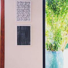 Um chevron e um listradinho!! Adoro composição de quadrinhos na vertical!   #quadro #quadros #pb #bw #preto #branco #black #white #arte #art #nataliabilla #nataliabillaartstudio #design #decor #decoração #painting #obradearte #instadesign #instadecor #instaart #instahome #instacool #clientefeliz