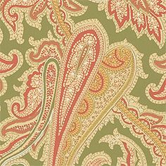 WINCHESTER PAISLEY, Green, T3360, Collection Fairfax from Thibaut