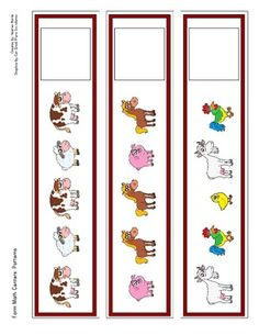 Here& a set of patterns strips and cards with a farm theme. Farm Activities, Kindergarten Activities, Summer School Themes, Farm Animals Preschool, Farm Lessons, Toddler Themes, Farm Unit, Toddler School, Farm Theme