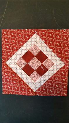 Nearly Insane block #60 Quilt Block Patterns, Pattern Blocks, Quilt Blocks, Red And White Quilts, Blue Quilts, Fan Blades, English Paper Piecing, Patch Quilt, Red Pattern
