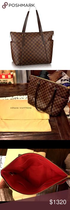 Like new Authentic Louis Vuitton Totally MM Ebene Beautiful like new condition. Bag has been carried twice. Purchased 2014. Guaranteed authentic. Louis Vuitton Bags Shoulder Bags