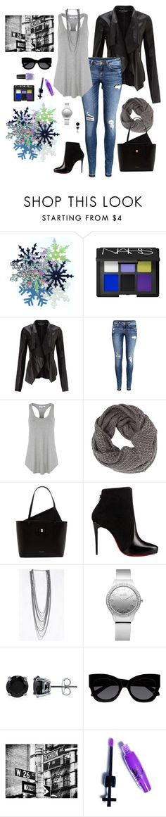 """""""City Casual"""" by autumness-1 ❤ liked on Polyvore featuring NARS Cosmetics, Miss Selfridge, H&M, Glamorous, Betsey Johnson, Ted Baker, Christian Louboutin, Love Moschino, BERRICLE and Karen Walker"""