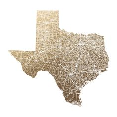 Texas Map Filled by GeekInk Design for Minted
