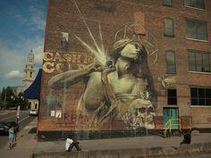 'Rhapsody' mural in Rochester (NYC) #mural #wallart #streetart #graffiti