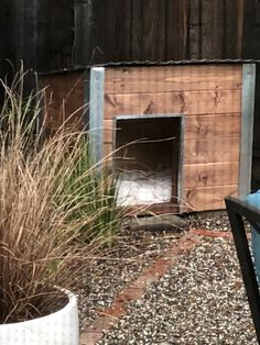 The doghouse that I built (with A's help) Dog Houses, Building, Home Decor, Decoration Home, Room Decor, Buildings, Interior Design, Dog Kennels, Home Interiors