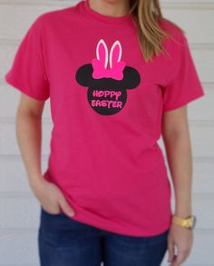 Minnie Mouse Pink Easter Bunny Shirt for Adults by MagicInMyVeins