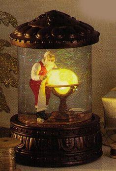 Hallmark Christmas Mapping His Way ~ Night Before Christmas Series Snowglobe Santa Snow Globe, Christmas Snow Globes, Before Christmas, Christmas Time, Vintage Christmas, Christmas Crafts, Christmas Decorations, Christmas Ornaments, Amazon Christmas