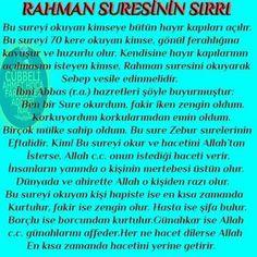 Rahman suresinin sirri