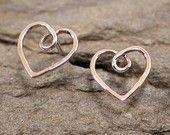 Heart Jewelry Dainty Sterling Silver Post Earrings