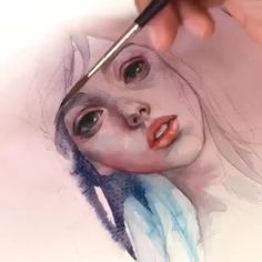 Margaret Morales is a visual designer, painter. Continue Reading and for more watercolor art → View Website Watercolor Portrait Tutorial, Watercolor Painting Techniques, Watercolor Video, Watercolour Tutorials, Watercolor Drawing, Watercolor Portraits, Watercolor Paintings, Painting Videos, Drawing Techniques