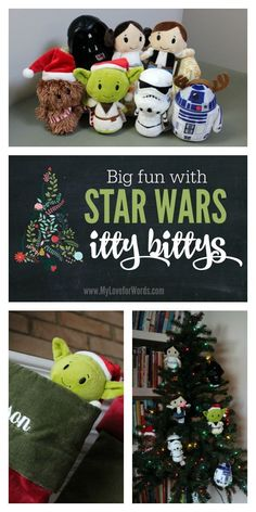 Create an adorable kids Christmas tree, stocking stuffer, or countdown to the new Star Wars movie with Star Wars itty bittys. Star Wars Christmas Ornaments, Christmas Trees For Kids, Candy Christmas Decorations, All Things Christmas, Christmas Crafts, Christmas Ideas, Christmas Costumes, Christmas 2016, Aniversario Star Wars