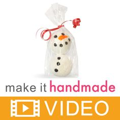 """This recipe demonstrates how to make Snowman Bath Fizzies. These adorable bath treats are wonderful for winter, and a cute product for your winter product line. To make these bath fizzies we used the 1.75"""" diameter bath bomb mold to create our snowmen bodies, and soap color bars to paint on the face and buttons. This also is a fun project to do with children on those cold and snowy days!"""