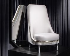 White Studded Salon Chair- Lee Broom