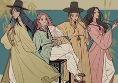 M Anime, Anime Art Girl, Pretty Art, Cute Art, Character Concept, Character Art, Anime Friendship, Korean Art, Digital Art Girl