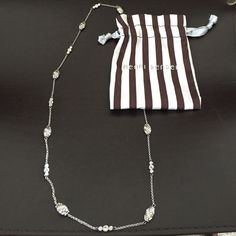 """Henri Bendel Renascence Necklace!! ❤️ Gorgeous!! Henri Bendel silver Renaissance Necklace, adorned with intricate deign trinkets and inlaid rhinestones. Measures: 14"""" long...simply stunning.... ❤SELLING FOR️ LESS $ ON MERCARII henri bendel Jewelry Necklaces"""