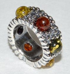3.2g AUTHENTIC BALTIC AMBER 925 STERLING SILVER CHARM PENDANT Bead