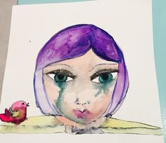 Freaky watercolour girl