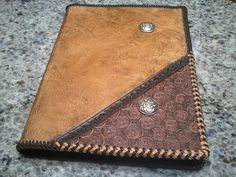 leather journal/book cover handmade  by EricsTooledLeather, $165.00