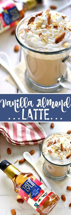 This Vanilla Almond Latte combines the classic flavors of vanilla and almond in a delicious drink that's easy to make and even better than your favorite coffeehouse beverage!  #FlavorYourMomentCG #ad @tatelylesugarus