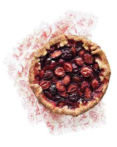 Plum and Port Crostata - Italian prune plums, a late-summer treat, are ideal for baking. Thai chile imparts a subtle heat to this rich, sweet tart.