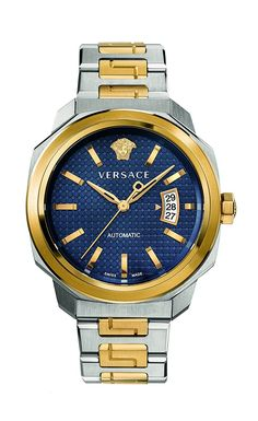 Versace Men's 'Dylos' Automatic Stainless Steel Casual Watch, Color:Two Tone (Model: VAG030016) ** Learn more by visiting the image link.