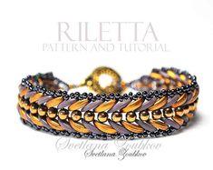 ee4b9cfd9c Beaded Bracelet Pattern Crescent Beads Riletta Tutorial Perlenschmuck,  Basteln, Ideen, Weben Mit Perlen