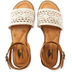 Aeropostale Rocket Dog Arena Sandal (89 BGN) ❤ liked on Polyvore featuring shoes, sandals, natural, aeropostale sandals, buckle shoes, cushioned shoes, synthetic shoes and aeropostale shoes