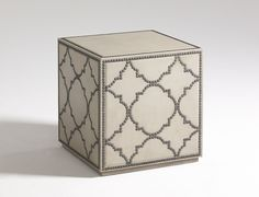 Leather Cube | Doodle Home - Leather cube table by Moore Councill #cubetable #accenttable #interiordesign
